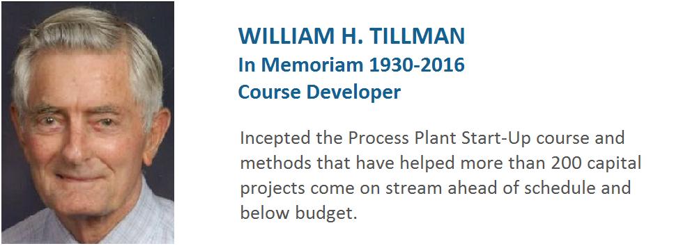 William H. Tillman, Course Developer